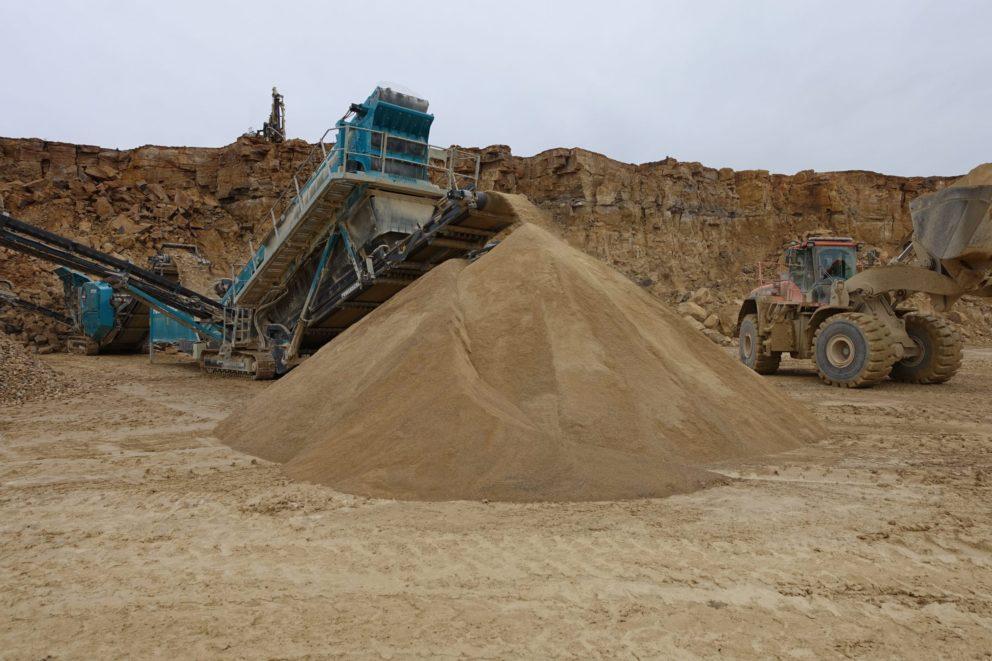 Creeton Quarry Aggregate Mound