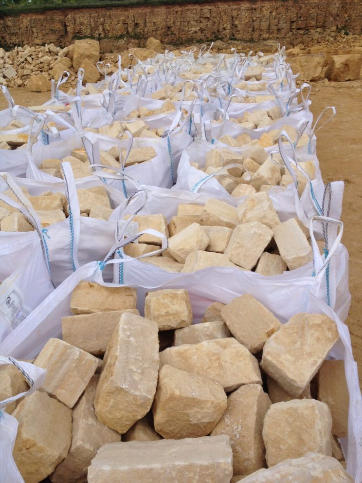 johnston quarry group hand cropped building stone bags