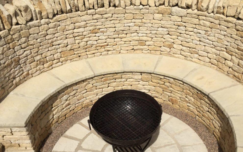 Sunken Fire Pit JQ Group Walling stone